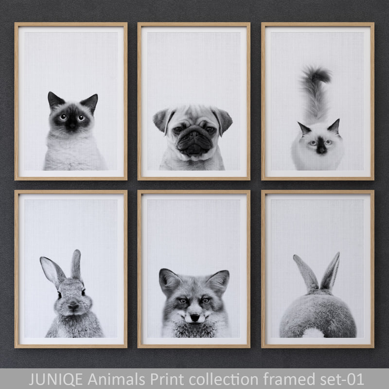 juniqe animals print framed model