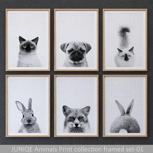 juniqe animals print framed model