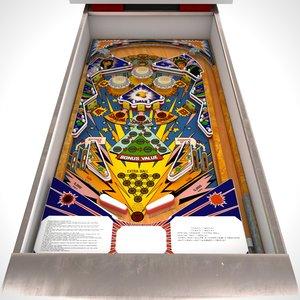 3D pinball machine zaccaria model