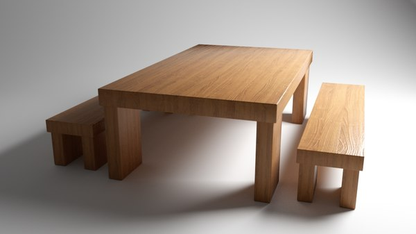 3D table benches