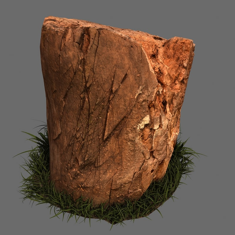 old stump grass 3D model
