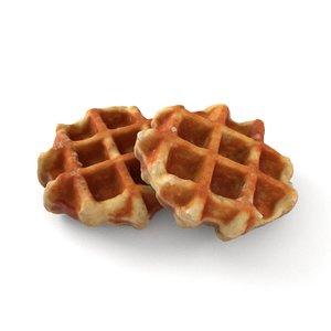 3D waffle scan model