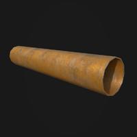 3D industrial pipe