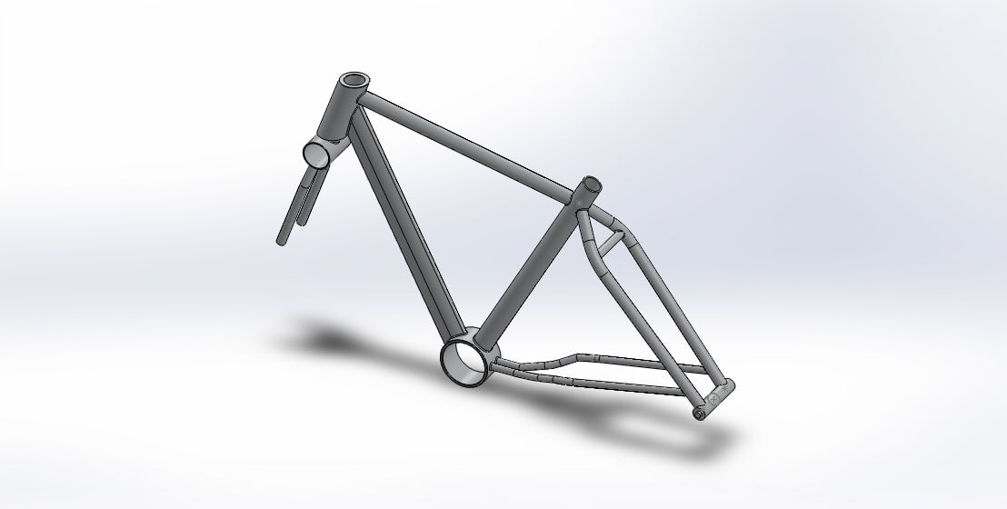 3D frame mountain bike model