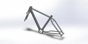 3D frame mountain bike model