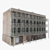 3D ready old apartment building