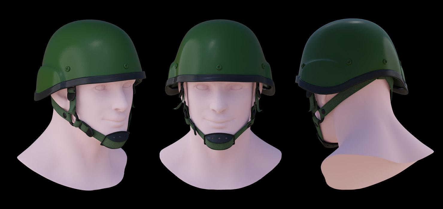 3D assault helmet