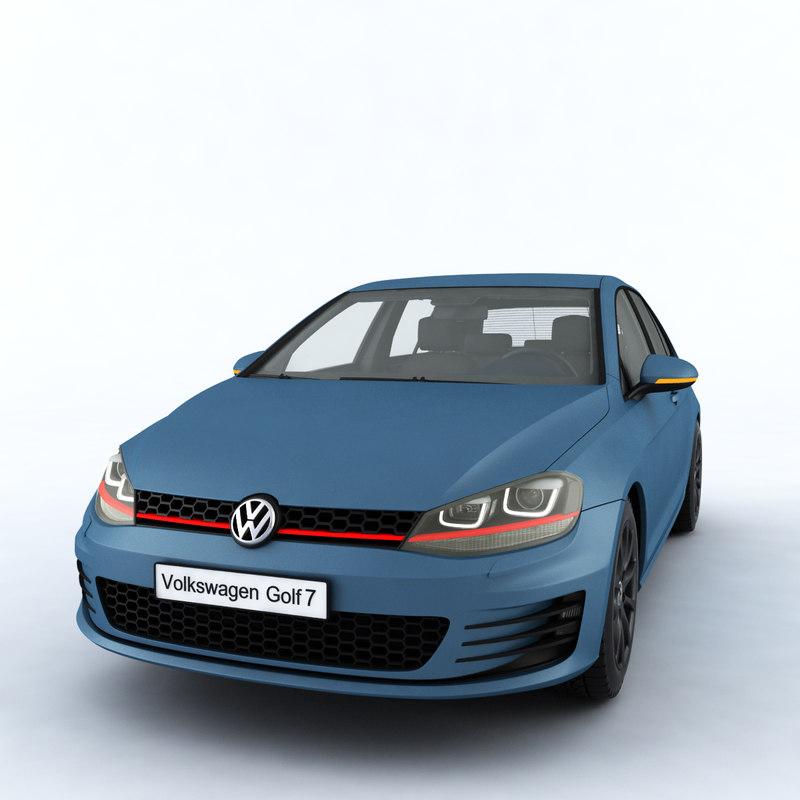 car volkswagen golf mk7 3D model
