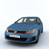 car volkswagen golf mk7 3D model
