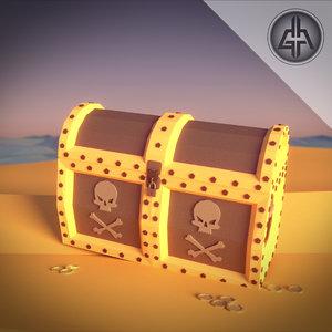 treasure chest pirate 3D model