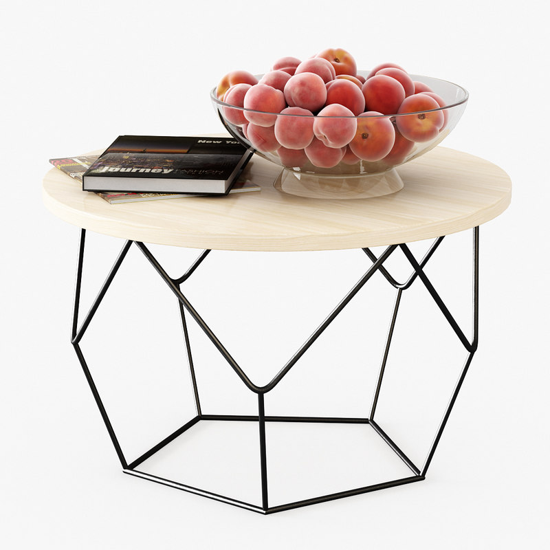 3D table peaches