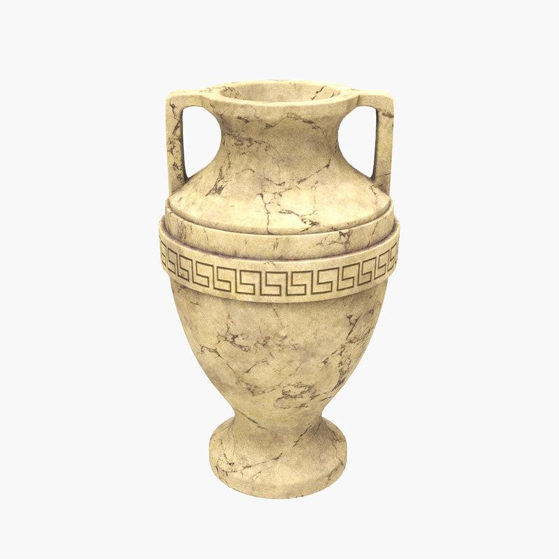 3D model amphora