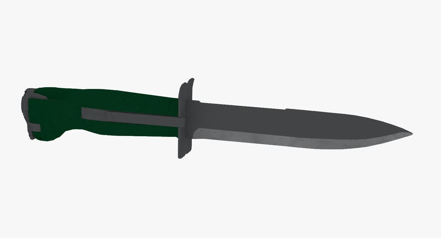 3D scout knife model