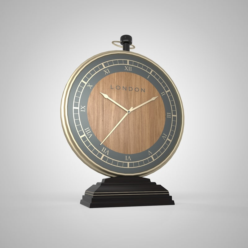 golden clock 3D