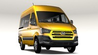 3D model hyundai h350 minibus swb