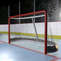 hockey net 3D model