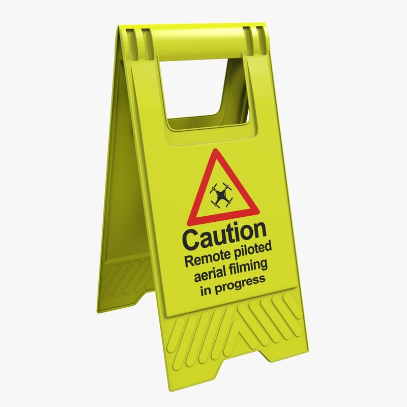 street warning sign model