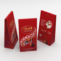 3D lindt lindor milk bag model