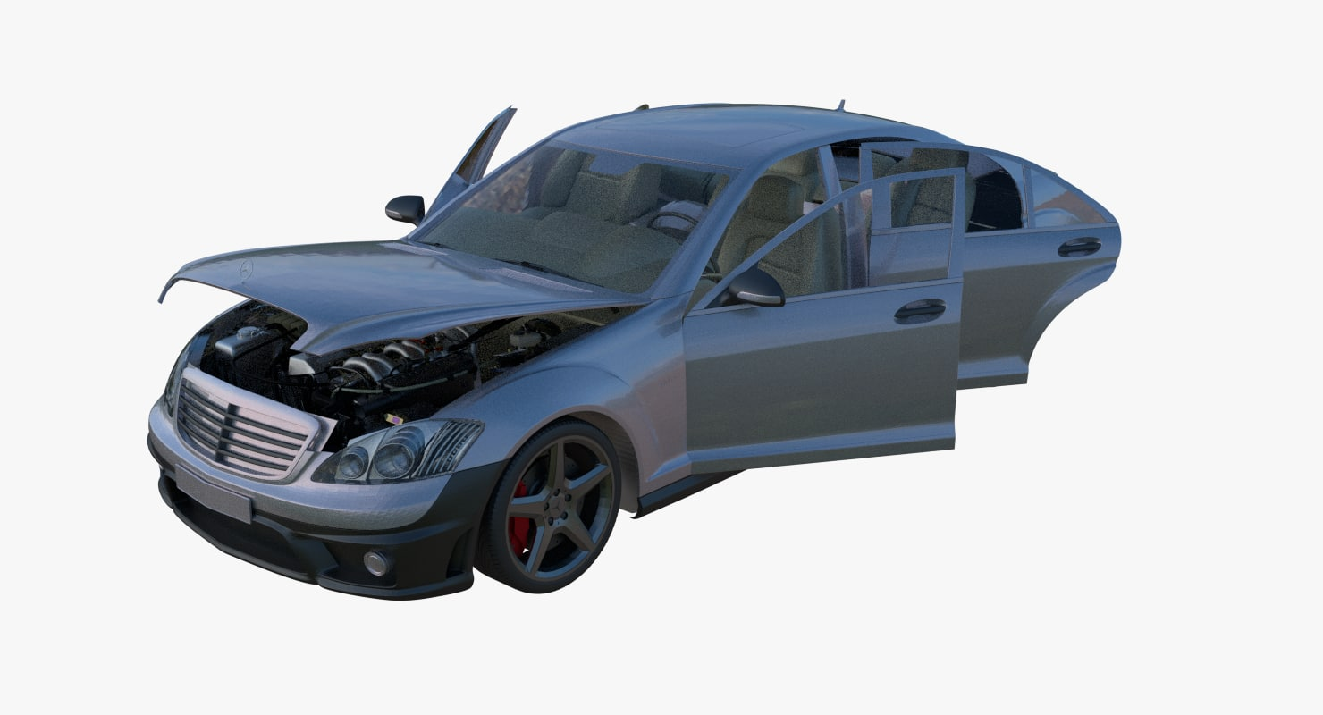 3D interior bonnet model
