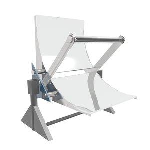 3D solar reactor model