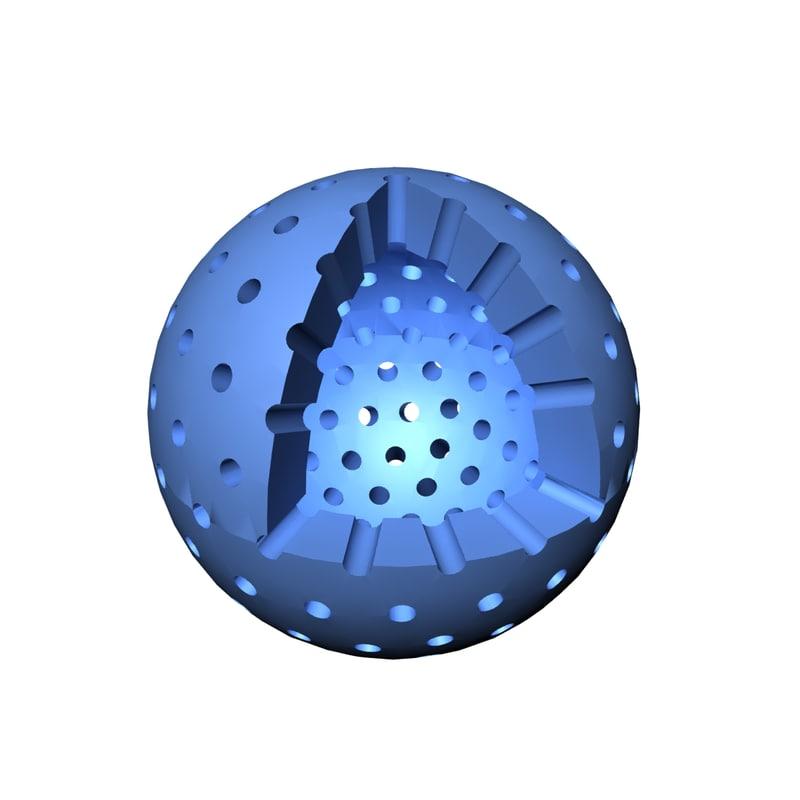 3D nanomaterial hollow sphere