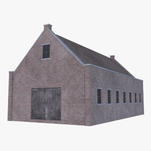 old brick barn 1 3D
