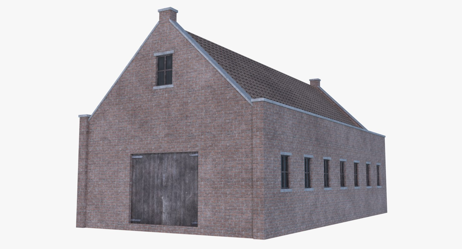 old brick barn 1 3D