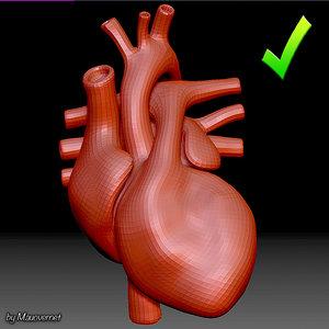 heart mesh 3D model