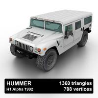 3D 1992 hummer h1 suv