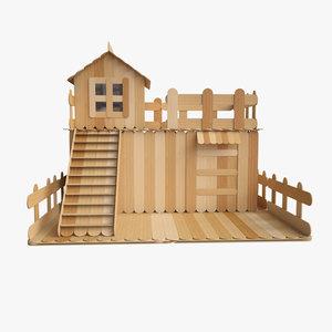 3D sticks house model