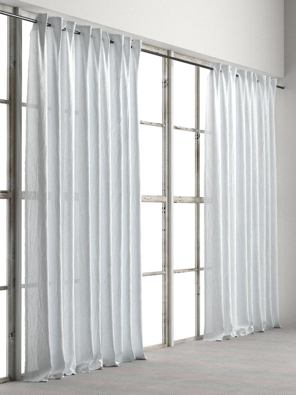 curtain 004 3D model