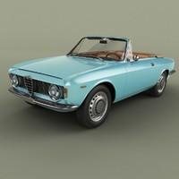 1965 alfa romeo giulia 3D model