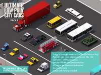 Ultimate Low Poly City Cars Pack