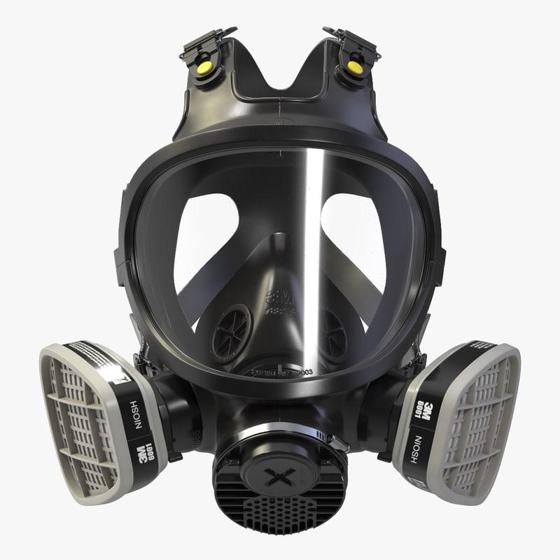 3D face respirator 3m 7800
