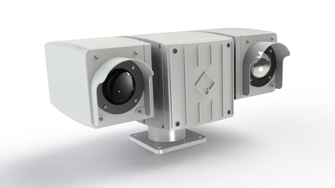 ptz thermal camera 3D