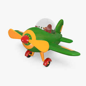3D realistic toy airplane