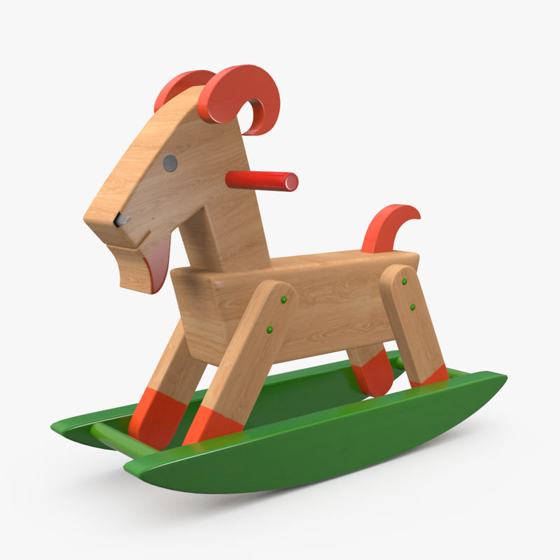 realistic goat toy 3D model