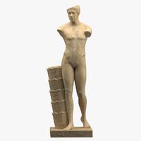 3D statue landsdowne athlete