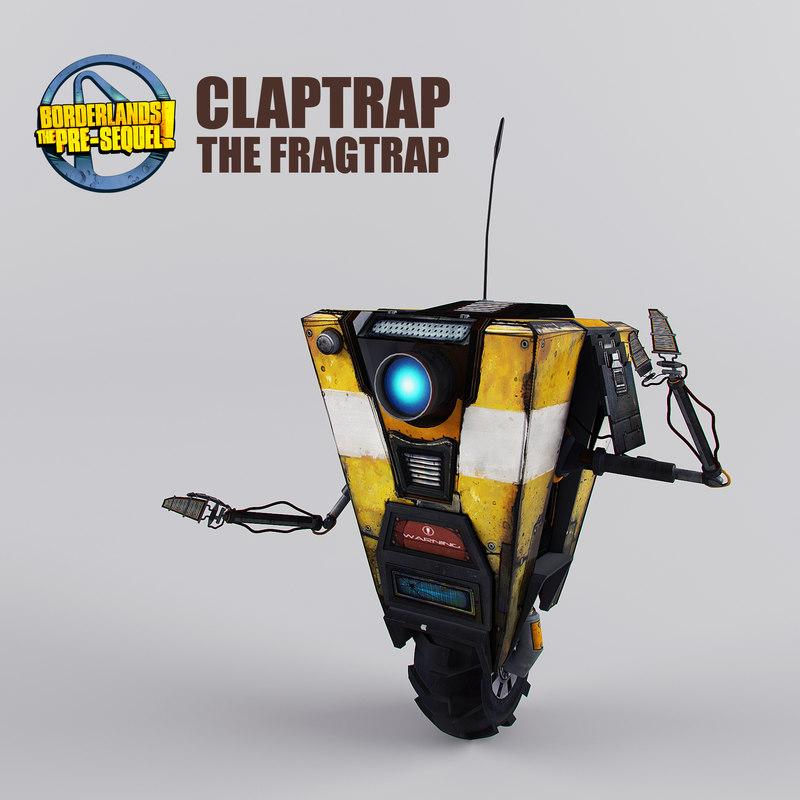 3D claptrap borderlands