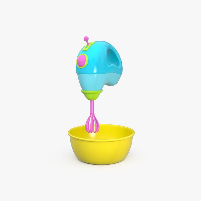 toy mixer 3D model
