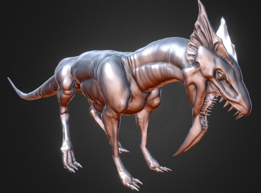 3D dragon creature model