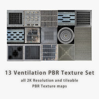 Ventilation PBR Texture Set [14 images]