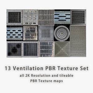 Ventilation PBR Texture Set [14 images]