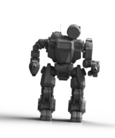 3D summoner mechwaeeior robots model