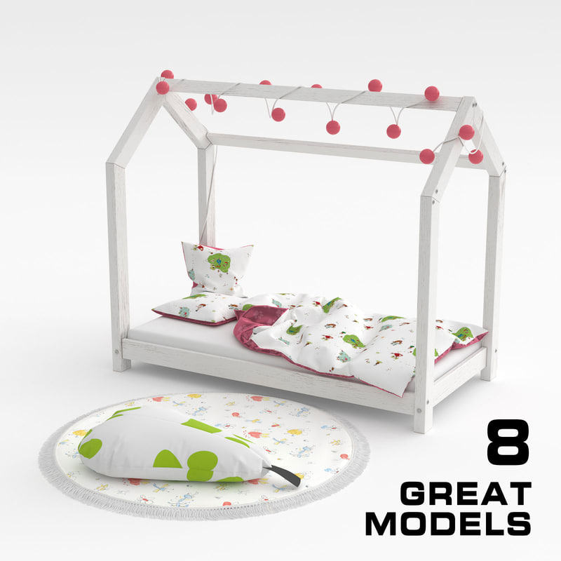 3D child bed set 02