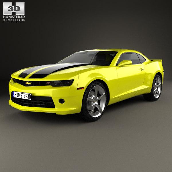 3D model chevrolet camaro 2014
