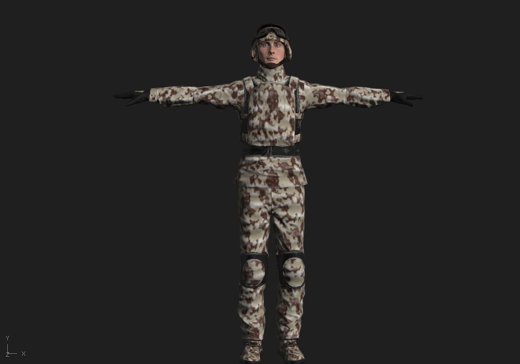 3D model rigged ready games