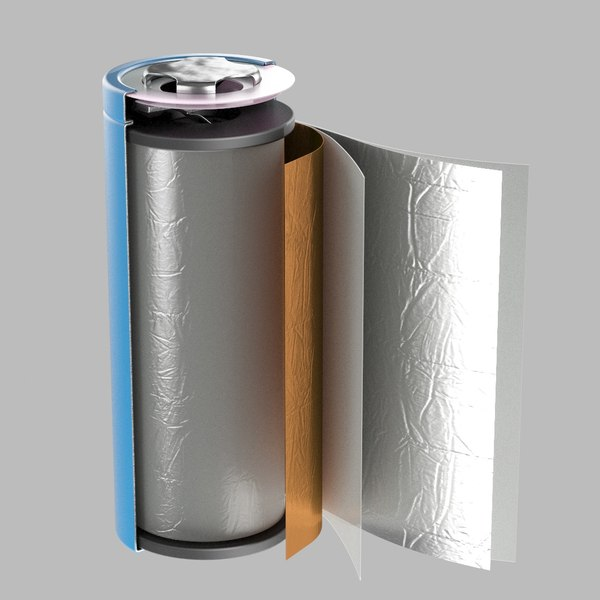 internal battery animation li-ion 3D model