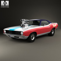 3D model plymouth barracuda dragster