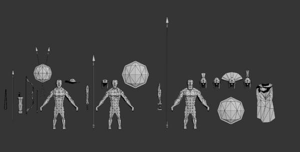 3D weapons props